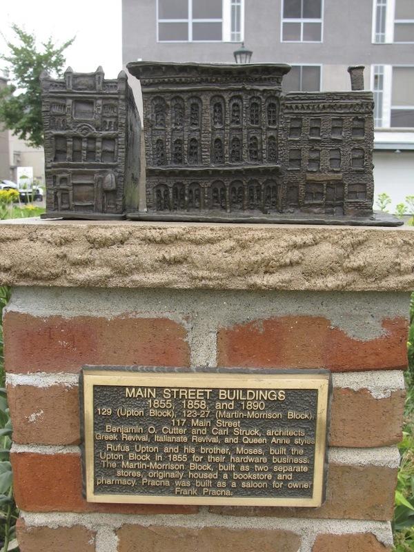 Main Street Buildings Sculpture