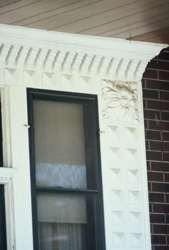 Detail of 1425 Dupont Avenue from front-porch window