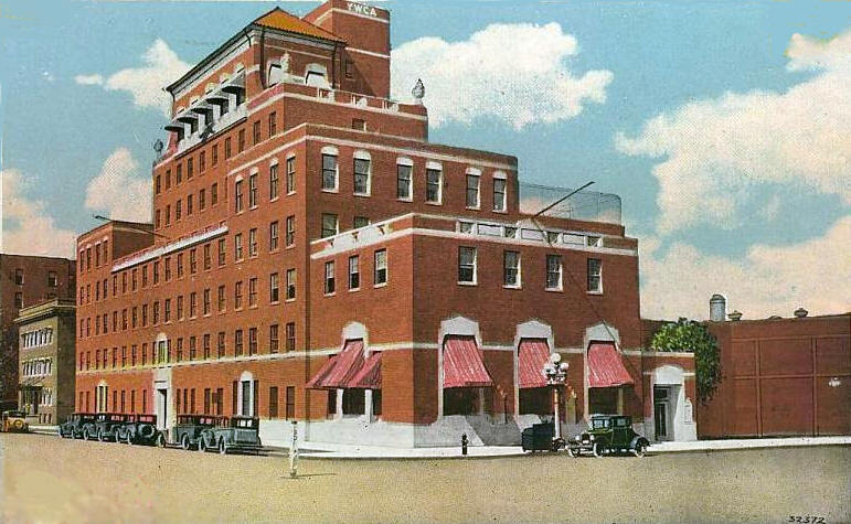 Previous YWCA building at same location as the present building.