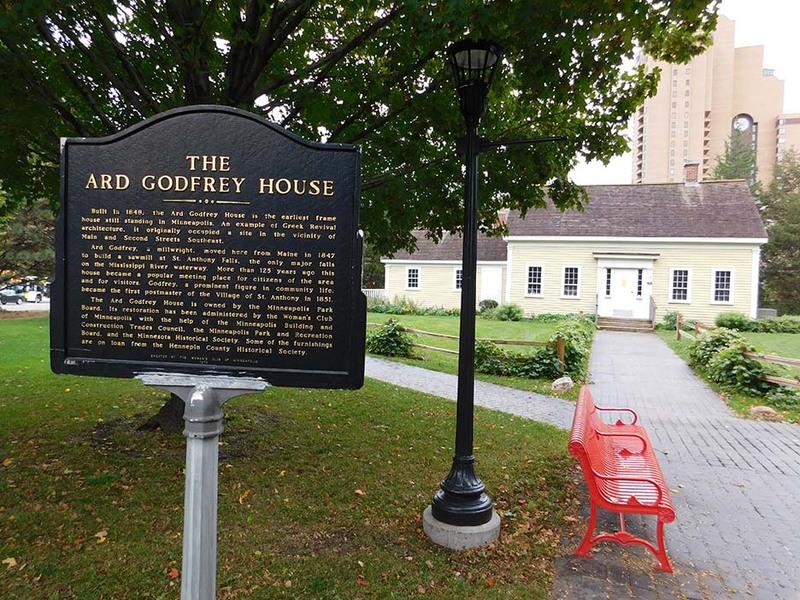 Ard Godfrey House with Interpretive Sign