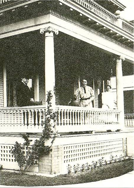 Porch of 1407 Fremont Avenue. Original owner State Senator John W. Pauly on left.